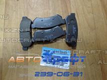 Колодки тормозные задние дисковые Daewoo Gentra  96800089