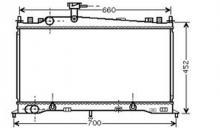 Радиатор охлаждения автомат MAZDA 6 2002- LF2115200A