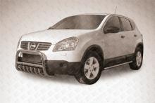 Кенгурятник низкий d57 c защитой картера Nissan Qashqai (2007) NIQ003