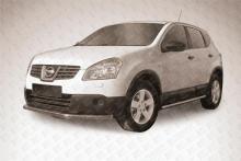Защита переднего бампера d57 длинная Nissan QASHQAI +2 (2007) NIQ2006