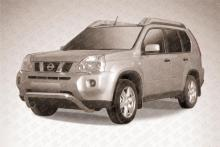 """Кенгурятник низкий d76 """"мини"""" Nissan X-TRAIL (2007) NXT001"""