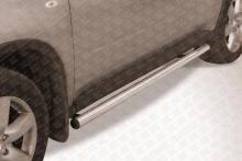 Пороги d57 труба Nissan X-TRAIL (2007) NXT008