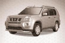 Защита переднего бампера d76+d57 двойная Nissan X- Trail (2011)  NXT11-001