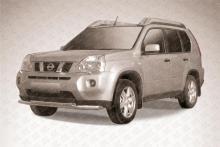 Защита переднего бампера d57+d57 двойная Nissan X- Trail (2011)  NXT11-003
