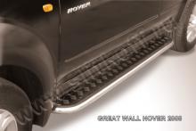 """Пороги d42 с листом (чёрный """"квинтет"""") Great Wall Hover H2 GWHN014"""