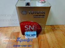 Масло моторное синтетическое 5W-30 TOYOTA SN 4L